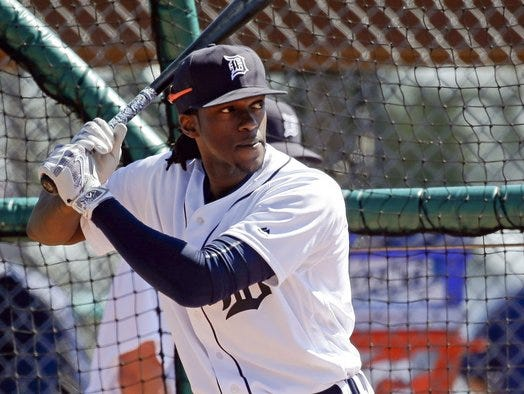 The Detroit Tigers traded former Roberson standout Cameron Maybin to the Los Angeles Angels on Thursday.