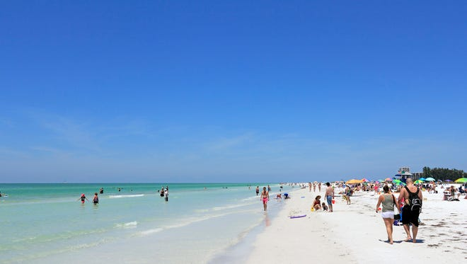 Siesta Key in Florida was named the USA's best beach by Dr. Beach on his annual top 10 list of best beaches. He praised it for its sunny and beautiful white quartz sand.