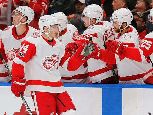 NHL: Detroit Red Wings at Edmonton Oilers
