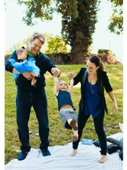 Actress Jenna von Oy and her family at Sevier Park