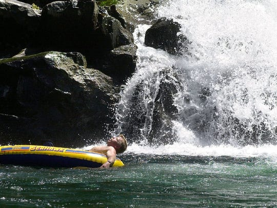 Salmon Falls in Little North Santiam canyon is a popular summer destination.