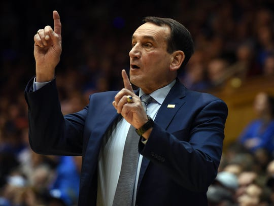 """Duke head coach Mike Krzyzewski called the late Chris Street """"one of my favorite players. He pointed their press. He just was all over the place."""""""