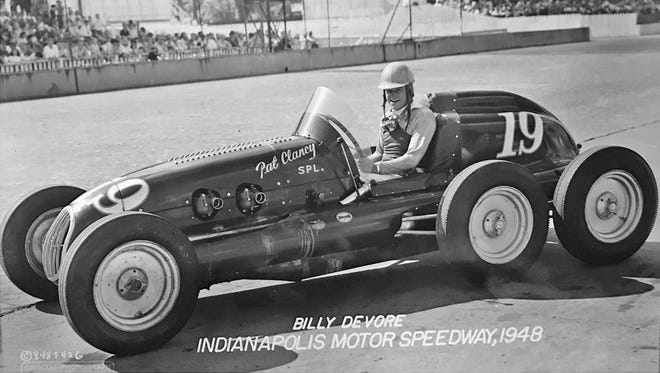 Billy Devore in his highly unorthodox six wheel car qualified in 1948 with a speed of 123.967. Devore started 20th and finished 12th.