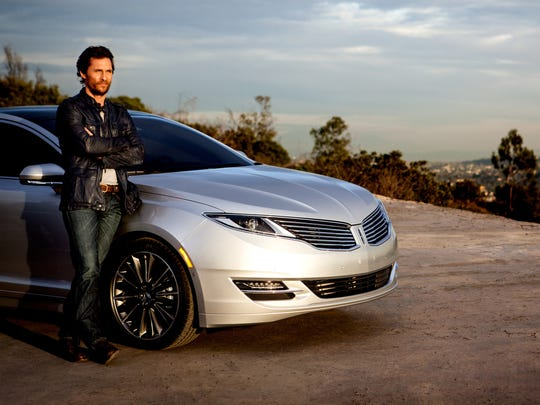 Matthew McConaughey gets Behind Wheel of 2015 Lincoln MKZ in Griffith Park.