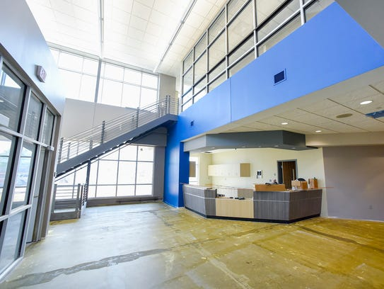 The main entry and reception area of the new Quarryview