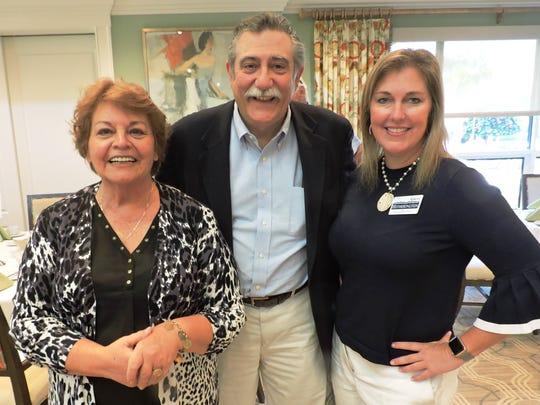Barbara Clowdus, left, Tom Campenni and Stacey Hetherington at the Center for Constitutional Values' luncheon at Piper's Landing Yacht & Country Club.