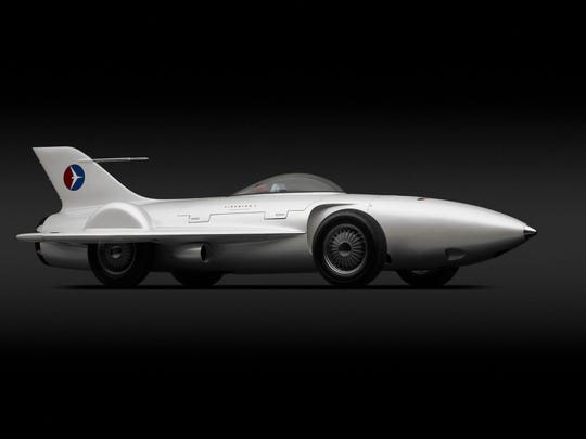 """General Motors Firebird I XP-21, 1953. Designed by Harley J. Earl, Robert F. """"Bob"""" McLean, and GM Styling Section staff."""