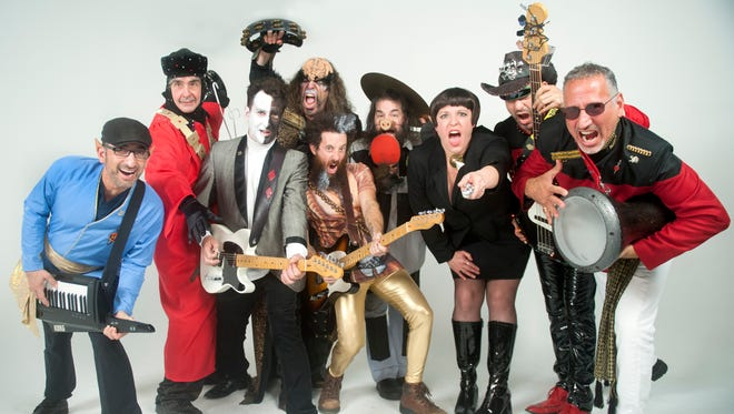 Members of The Roddenberries, a Philadelphia based Star Trek, sci-fi, multimedia, rock cabaret, gather for a portrait at Woodshop Films in Philadelphia.