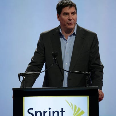 Sprint CEO Marcelo Claure  speaks at a the National