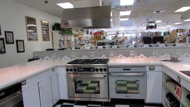 Sweet Basil's kitchen.
