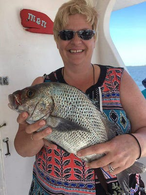 Black margate are just one of the species that brought smiles to anglers' faces aboard Lady Stuart Thursday. Send your fishing photos to ed.killer@tcpalm.com.