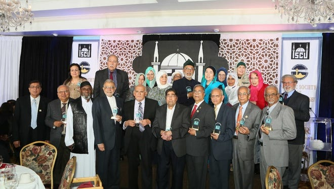 The Islamic Society of Central Jersey (ISCJ) has celebrated its 40th anniversary on Dec. 12 at Pierre's Restaurant, Georges Road in the Monmouth Junction section of South Brunswick. During the event, the ISCJ community honored its founding members, pictured, and praised their vision and contributions during the past 40 years. It was also an opportunity to share the outreach and interfaith efforts of the ISCJ community in the presence of the South Brunswick Mayor Frank Gambatese, Assistant Majority Senate Leader Linda Greenstein, Assemblyman Elect Andrew Zwicker, U.S. Rep. Frank Pallone and South Brunswick school board member Azra Baig. The keynote speaker was Azhar Azeez, president of the Islamic Society of North America. During the event, funds were raised funds to renovate and expand existing ISCJ facilities to cater to the growing needs of the expanding community. The ISCJ was established as a nonprofit organization in 1975 and has been operating at its present location in South Brunswick since the early 1980s. The ISCJ is democratically governed, and believes in inclusiveness, tolerance and American values. It practices Islam's emphasis on good neighborly relations, and reaches out and cares for the community at large. For more information, visit http://iscj.org/.