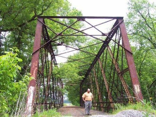 Hamilton County plans to move this Washington County steel truss bridge into Strawtown park. (Featuring Al Patterson.)