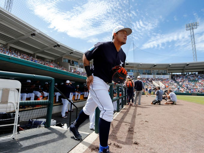 Mar 7, 2018; Lakeland, FL, USA; Detroit Tigers first
