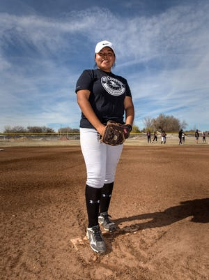 Senior Shiloh Lewis is being counted on to help lead the Kirtland Central softball team this season.