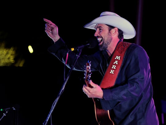 Mark Powell & Lariat perform during the 2016 Outlaws and Legends Music Festival at the Back Porch of Texas.