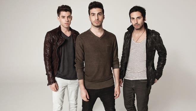 Sam Frisch, left, Alex Makhlouf and Jean Paul Makhlouf of EDM group Cash Cash.