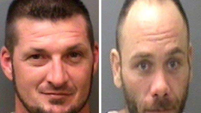 Michael Bertram (left) and Johnny Dennis escaped from the Henry County Jail on Monday.