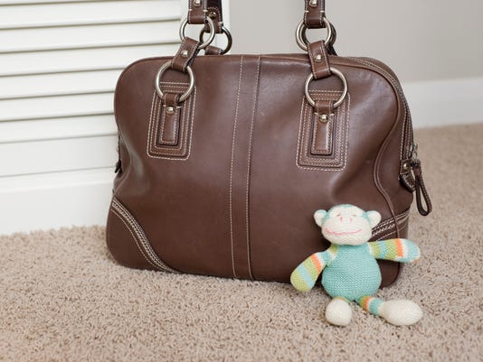 Vintage Purse with child's toy