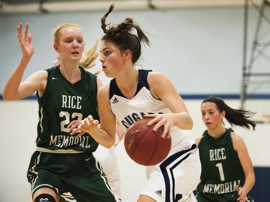 Rice vs. MMU Girls Basketball 12/04/15