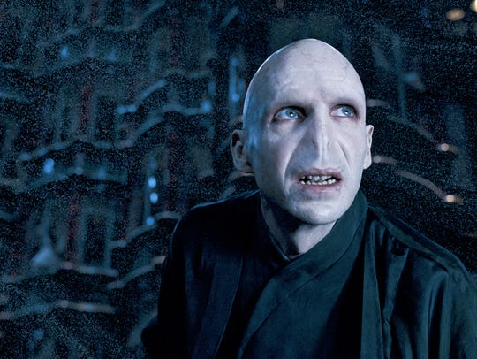 "Ralph Fiennes as Lord Voldemort in a scene from ""Harry"