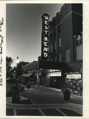 Plans to redevelop the closed West Bend Theatre, shown in 1983, include restoring the blade-style sign.