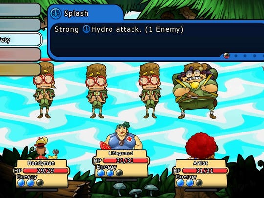 "Battles in ""Citizens of Earth"" use an old-school RPG view with a bit of a twist."