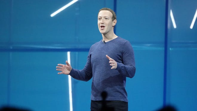 Facebook CEO Mark Zuckerberg welcomes app developers to the Facebook F8 2018 developer conference held at the San Jose McEnery Convention Center on May 1, 2018.