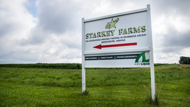 Starkey Farms sits along 700 N., in Brownsburg, Ind., on Wednesday, June 20, 2018.
