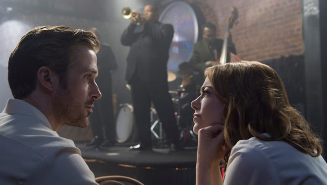 Ryan Gosling and Emma Stone fall in love to a jazzy soundtrack in 'La La Land.'