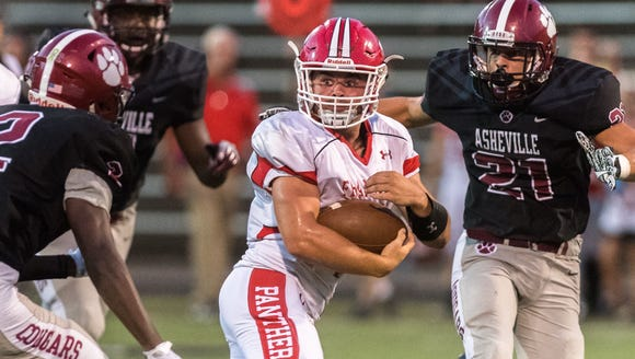 Franklin's Grant Stiles  rushed for four touchdowns