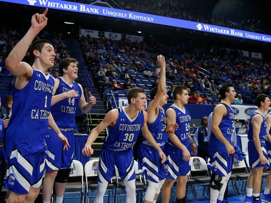 Covington Catholic players, including MVP C.J Fredrick,