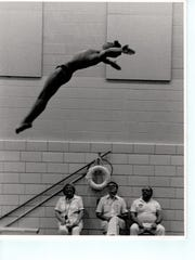 Cliff Devries in his diving days.