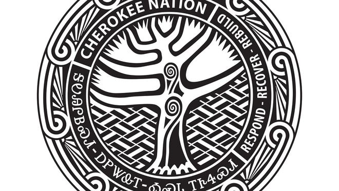 The Cherokee Nation has more than 380,000 citizens, 11,000 employees and a variety of tribal enterprises ranging from aerospace and defense contracts to entertainment venues. The tribe has planned about $25 million in new construction as part of its Respond Recover Rebuild program. The insignia for that initiative is seen here, designed by Dan Mink.