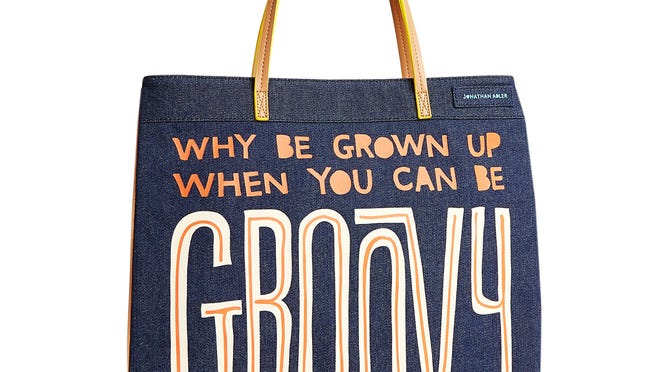 """""""Be Groovy"""" tote."""
