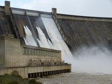 Shasta Dam gates spill water for first time in 19 years