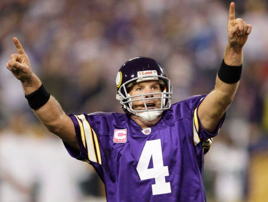 Brett Favre had a passer rating of 135.3 against the