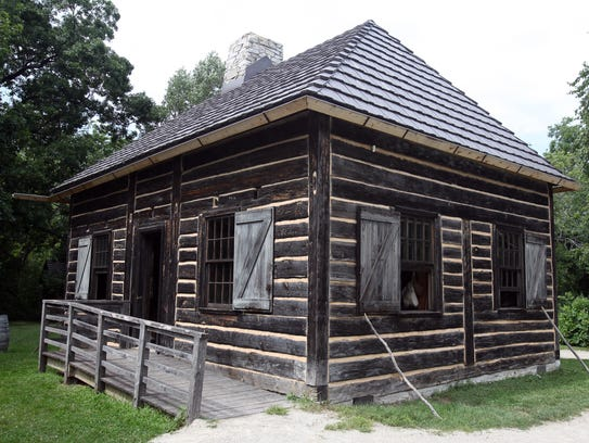 The fur trader's cabin at Heritage Hill Historical