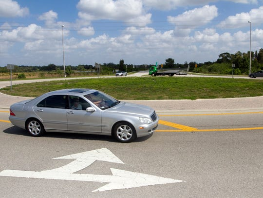 Estero Roundabout -- Built at Williams Road and Via Coconut Point