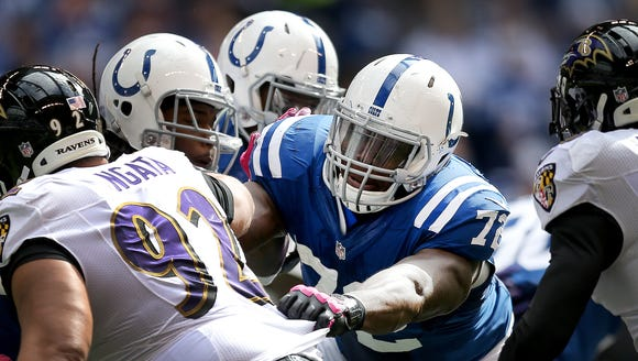 Colts' Jonotthan Harrison was benched in favor of Khaled