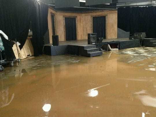 Rain and mud caused significant damage at ArtSpace