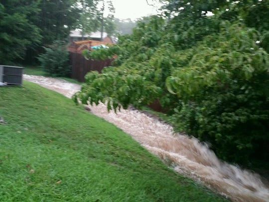 """It's like a small river in my backyard,"" Durham said."