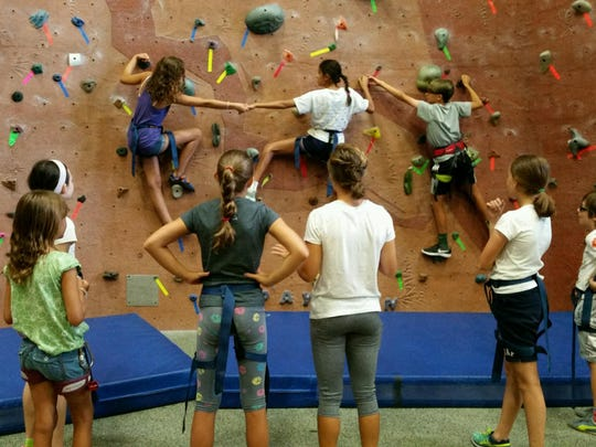 Rock climbing is suitable for those of all ages.
