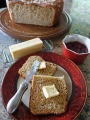 There's nothing like freshly baked homemade bread for breakfast.