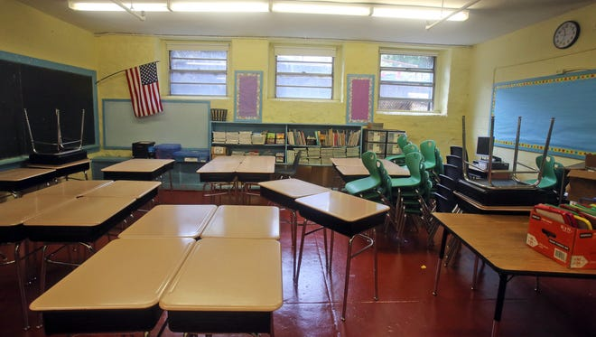 A basement classroom School 17, a pre-K through sixth grade school Yonkers, photographed Aug. 24, 2015. The original school was built in 1910, and addition was built in the 1950's.