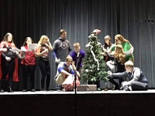 """Jordan Walter's play, """"How the Avengers Saved Christmas"""" debuted last Thursday at Jefferson High School"""