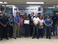 Milford business completes 30 years in Delaware's Workplace Safety Program