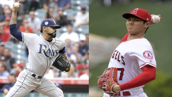 Sergio Romo and Shohei Ohtani squared off in a most unique pitching matchup Sunday.
