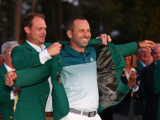 Image result for sergio garcia green jacket