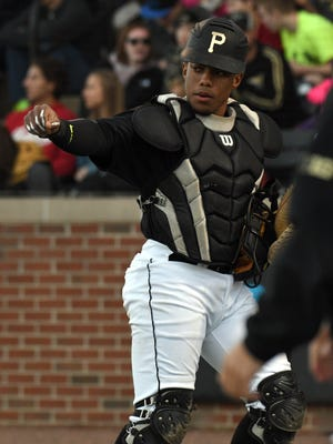 The emergence of freshman catcher Bryce Bonner contributed to the turnaround season for Purdue baseball in 2017.